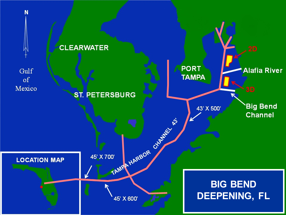 Map of Big Bend Deepening