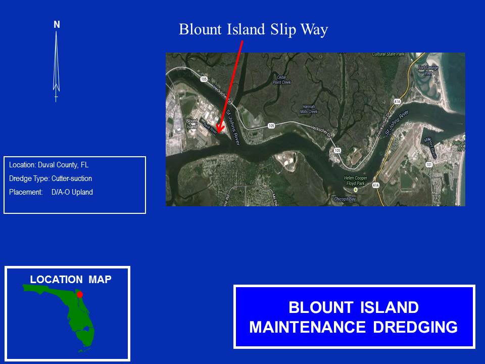 Blount Island United States Marine Corps Operations and Maintenance Map