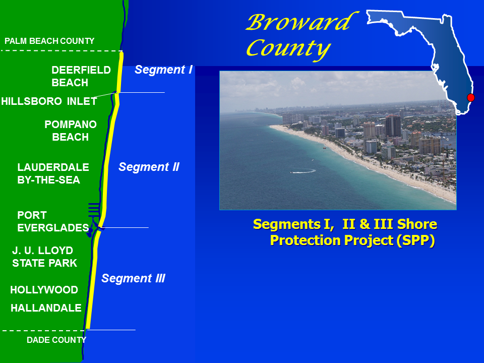Broward County Florida Shoreline Protection Project Map