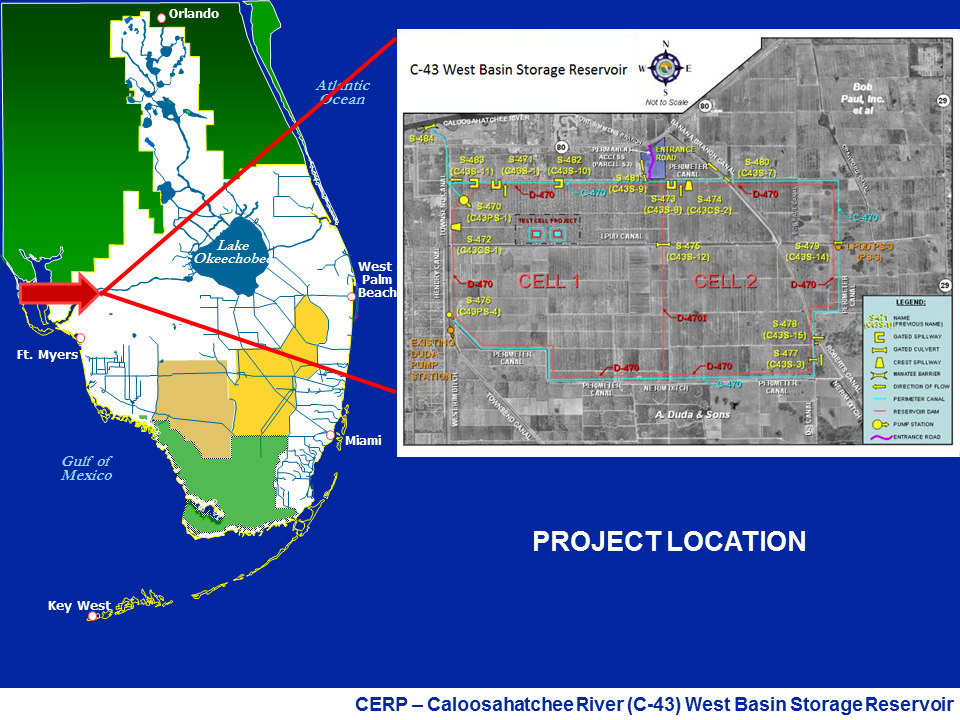 map of C-43 project area
