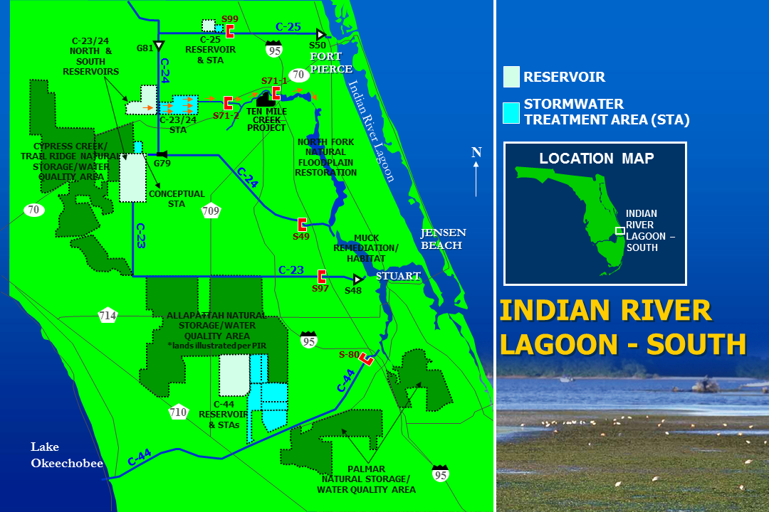 Map of Indian River Lagoon-South project area.