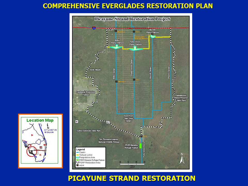 Map of Picayune Strand project area.