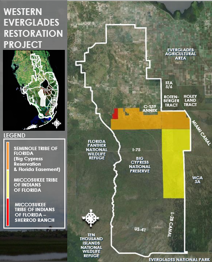 Map of Western Everglades project area.