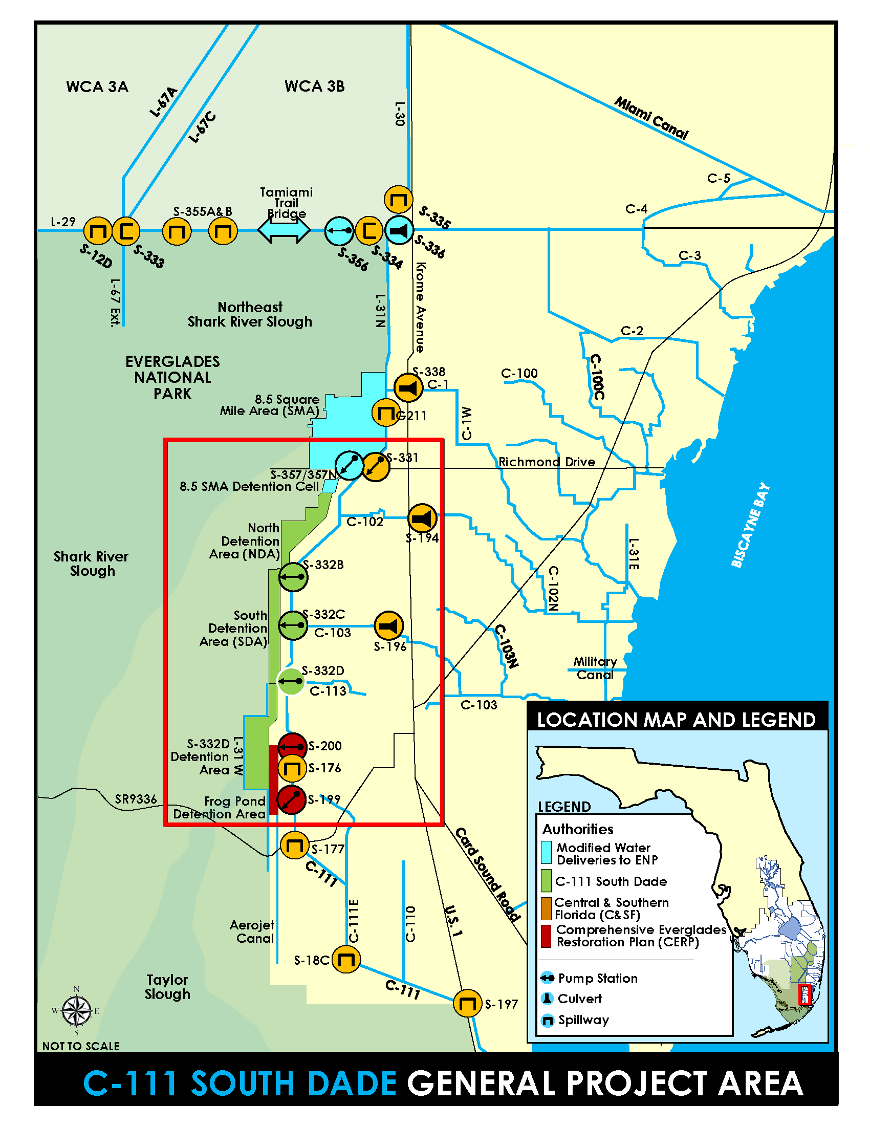 map of C-111 South Dade project area