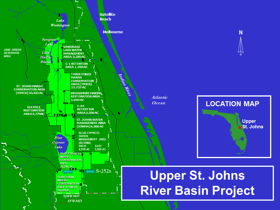 Map of Upper St. Johns River Basin