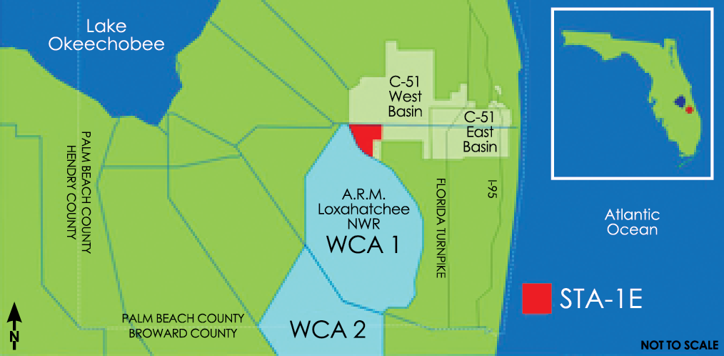 map of WPB C-51/STA-1E project area