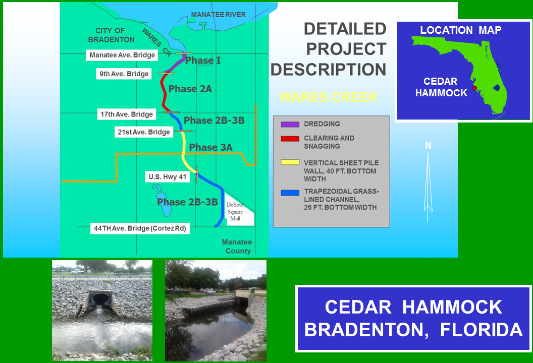Cedar Hammock Wares Creek Florida Construction project map