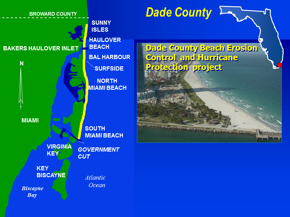 Dade County Florida BEC Construction project map
