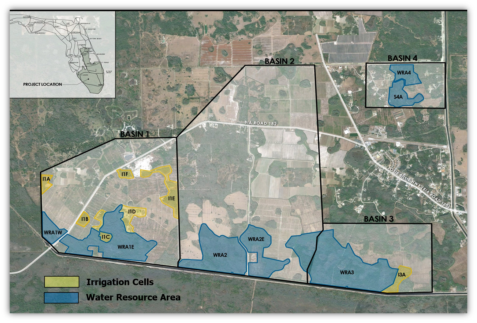 map of Seminole Big Cypress Reservation project area