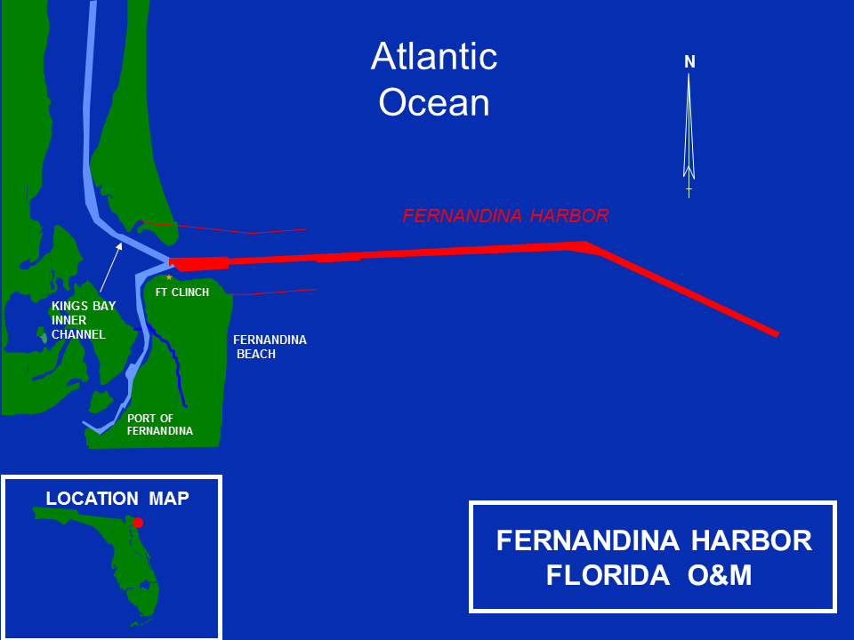 Fernandina Harbor Kings Bay Operations and Maintenance Project Map