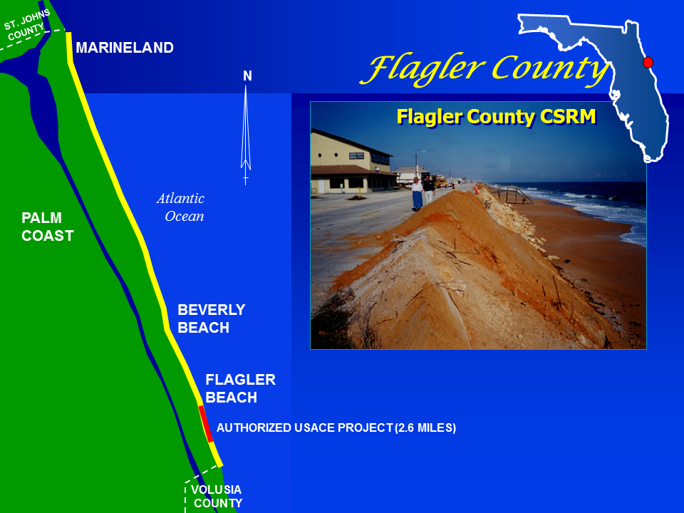 Flagler County Shore Protection Project map