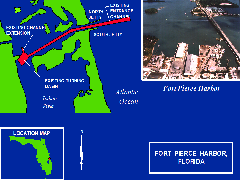 Fort Pierce Harbor Operations and Maintenance project map