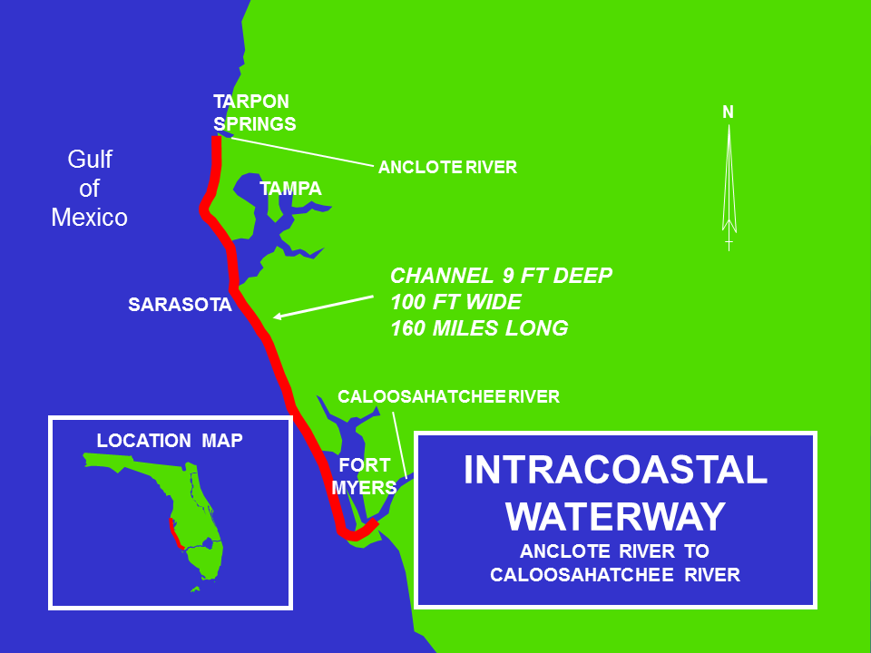 Intracoastal Waterway Caloosahatchee River to Anclote River Operations and Maintenance project map