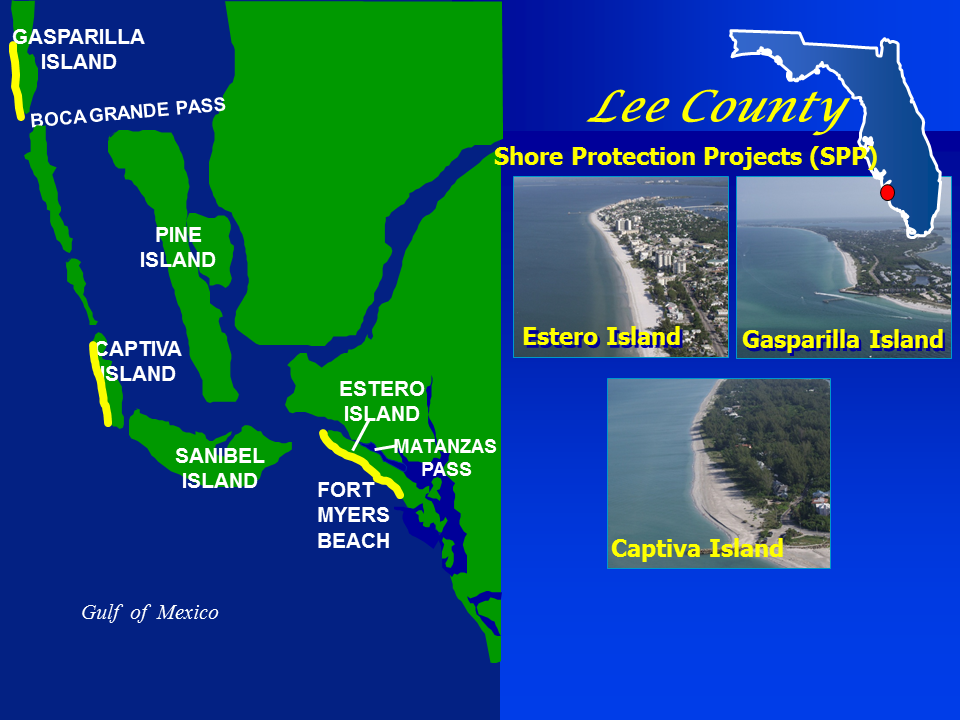 Lee County Shore Protection Project map