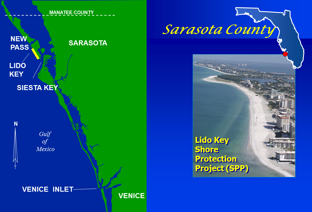 Lido Key Shore Protection Project map