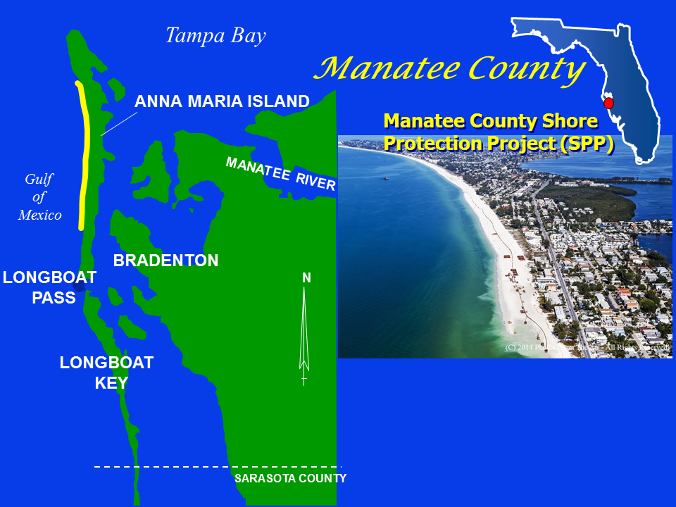 Manatee County Shore Protection Project Map