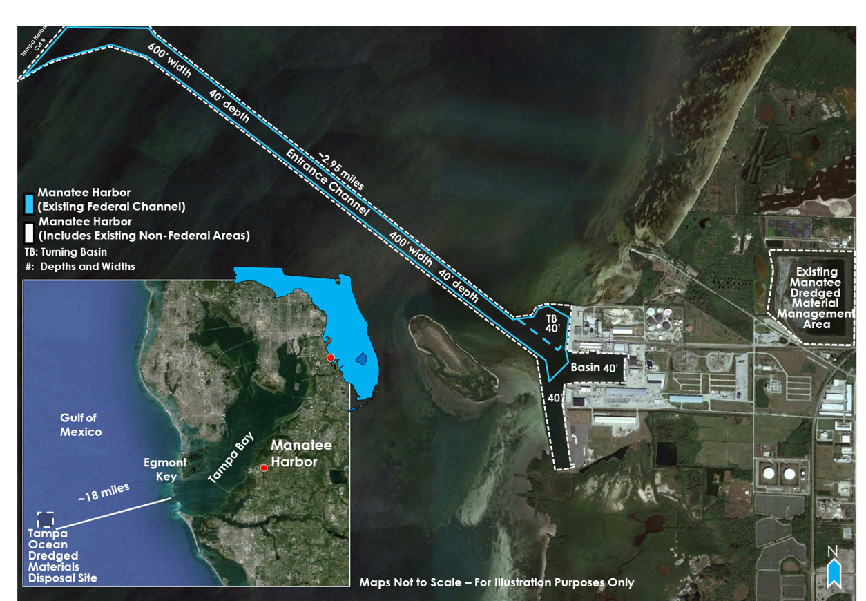 Manatee Harbor Improvements project map