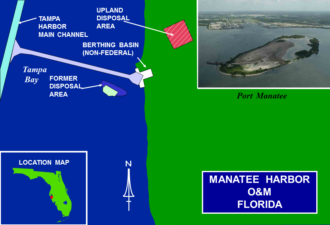 Manatee Harbor Operations and Maintenance map