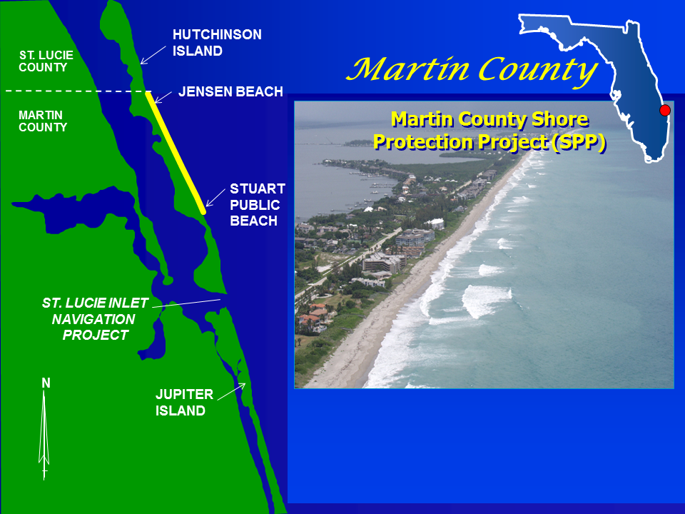 Martin County Shore Protection Project Map