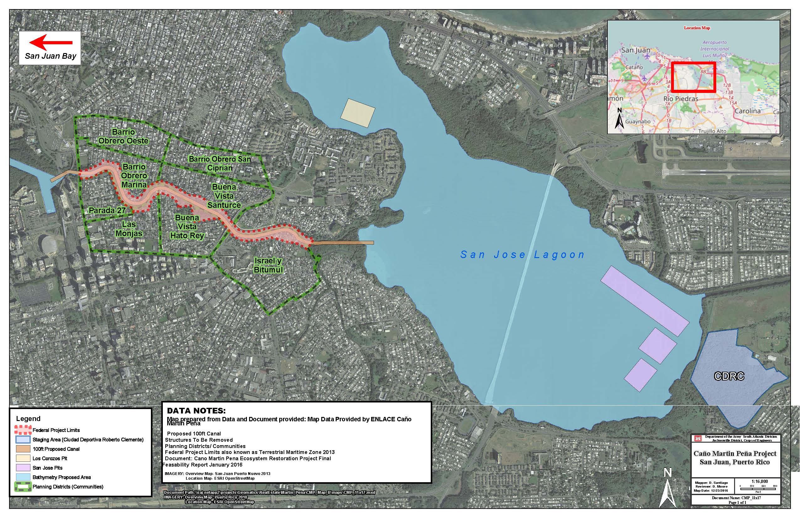 Martin Peña Canal Design project map