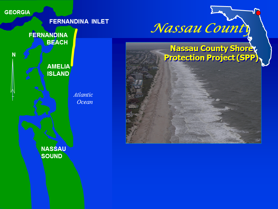Nassau County Shore Protection Project  map