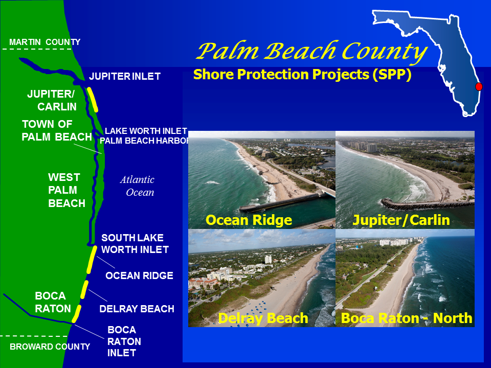 Palm Beach County Shore Protection Project map