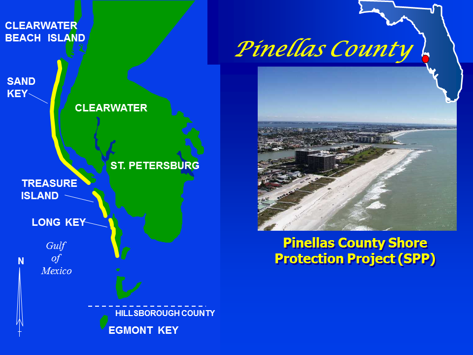 Pinellas County Shore Protection Project map