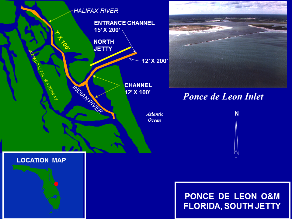 Ponde de Leon Inlet Operations and Maintenance project map