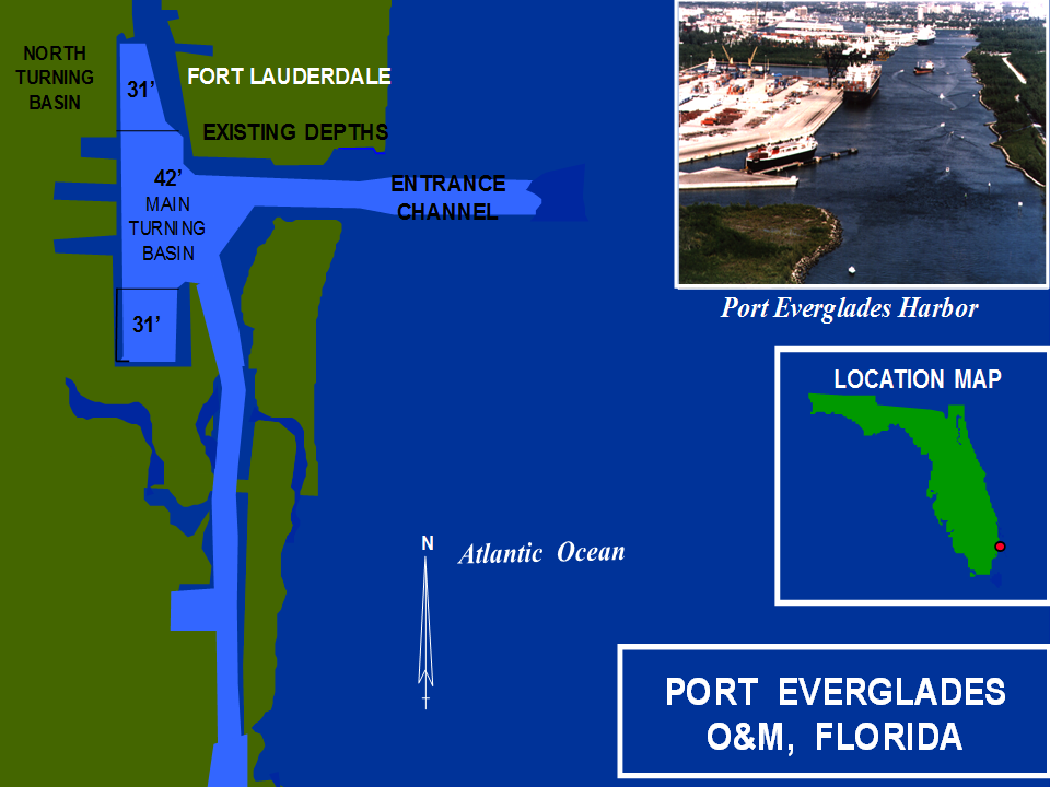 Port Everglades Harbor Operations and Maintenance project map