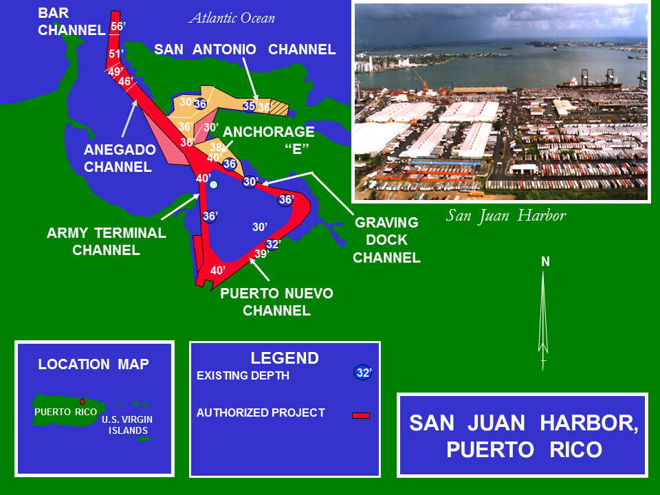 San Juan Harbor Improvement Study Puerto Rico project map