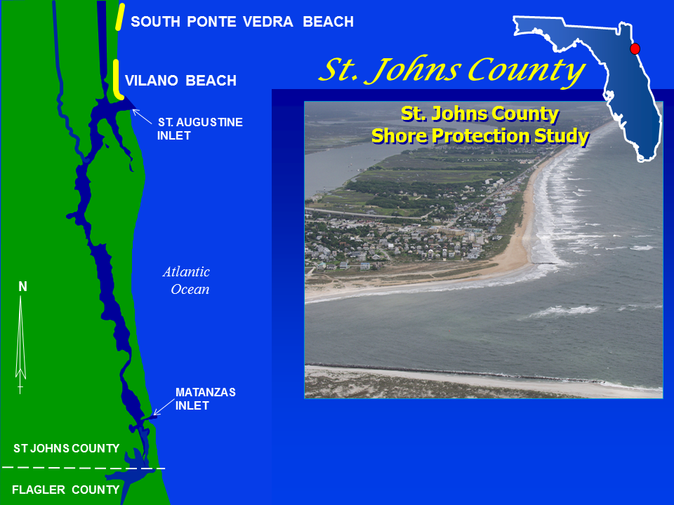 St. Johns County Shore Protection Project map