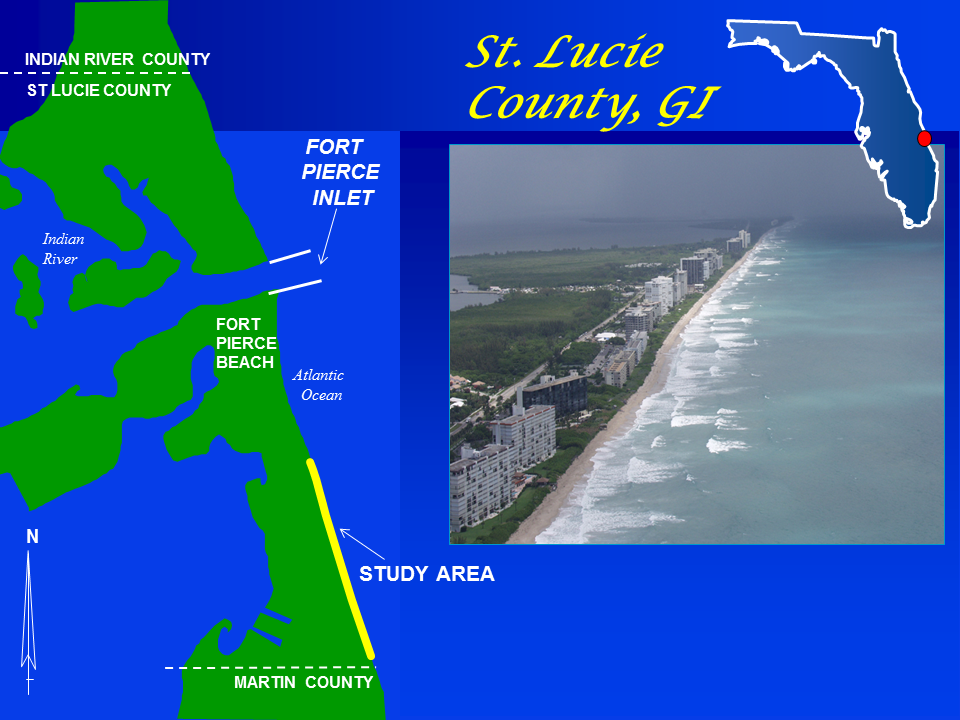 St. Lucie County Shore Protection Project map