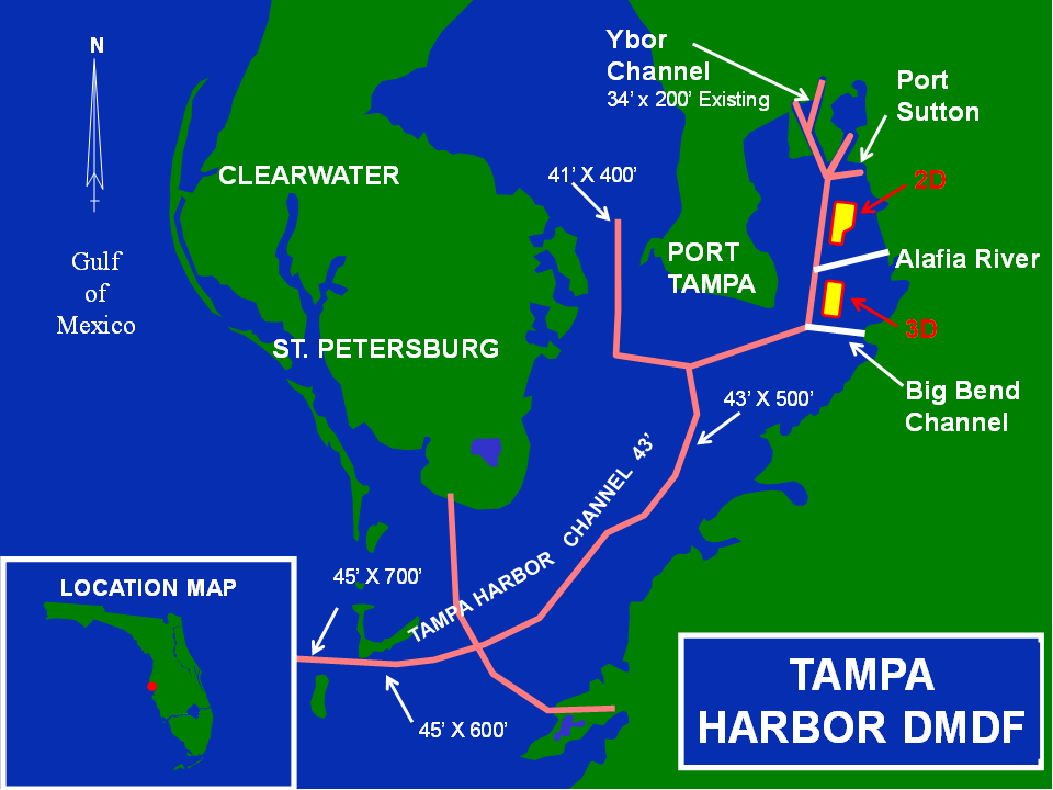 Tampa Harbor Dredge Material Disposal Facilities project map