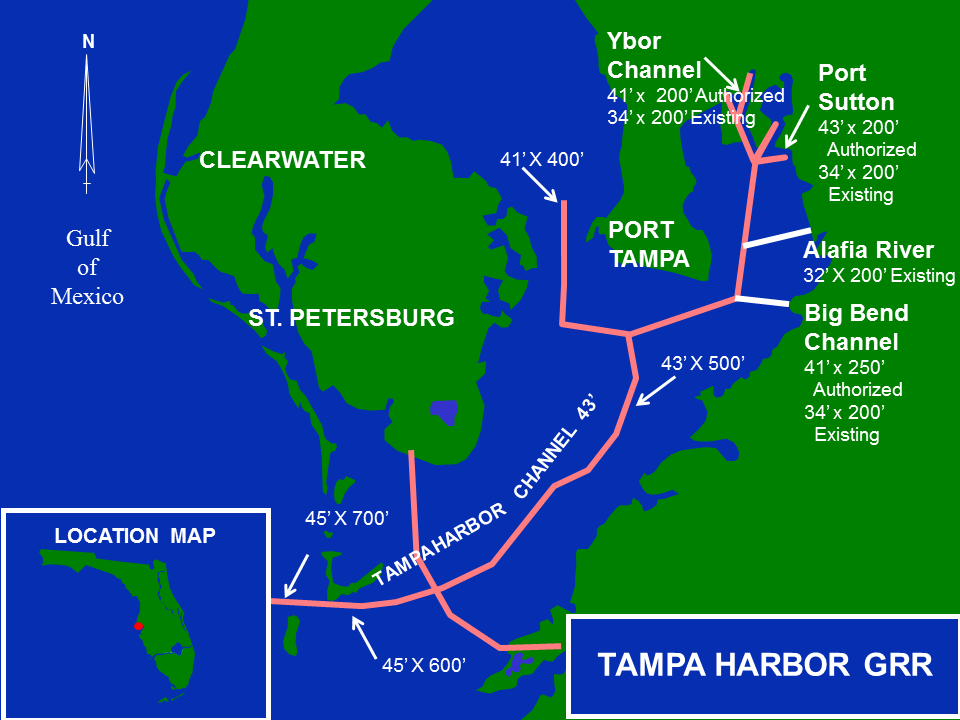 Tampa Harbor GRR map