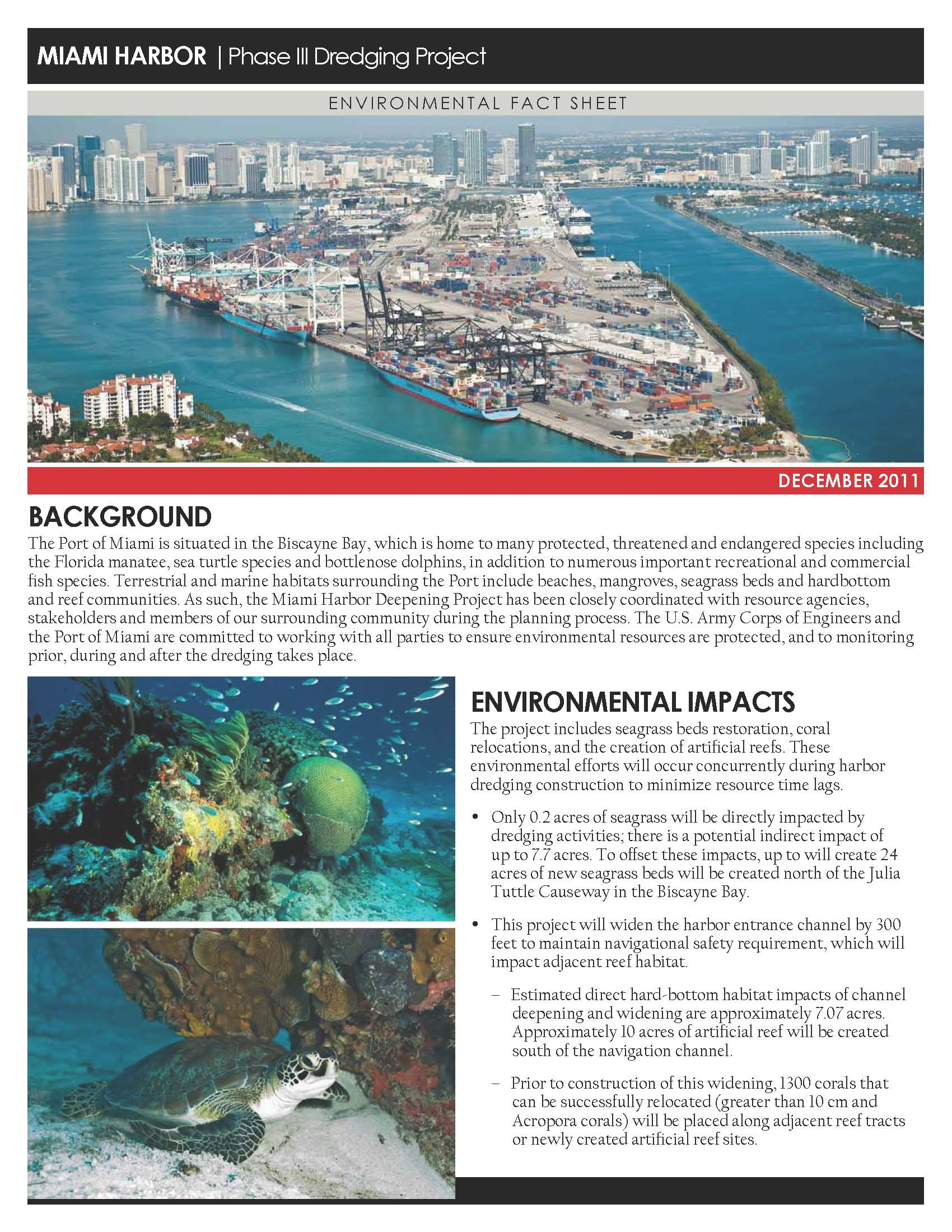 Port of Miami Fact sheet