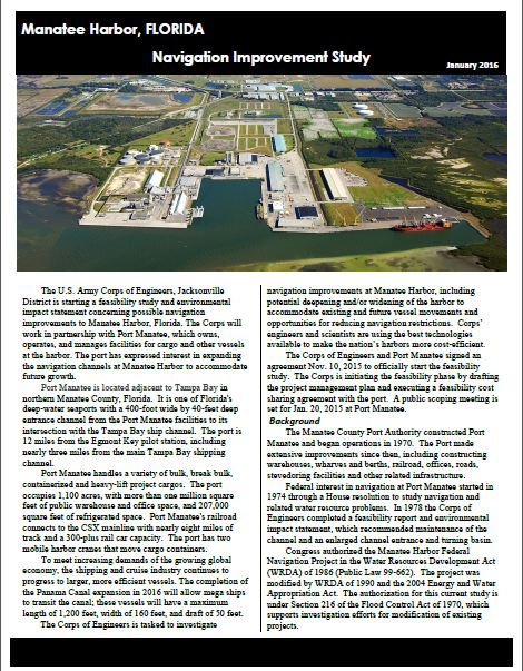 Manatee Harbor Fact Sheet
