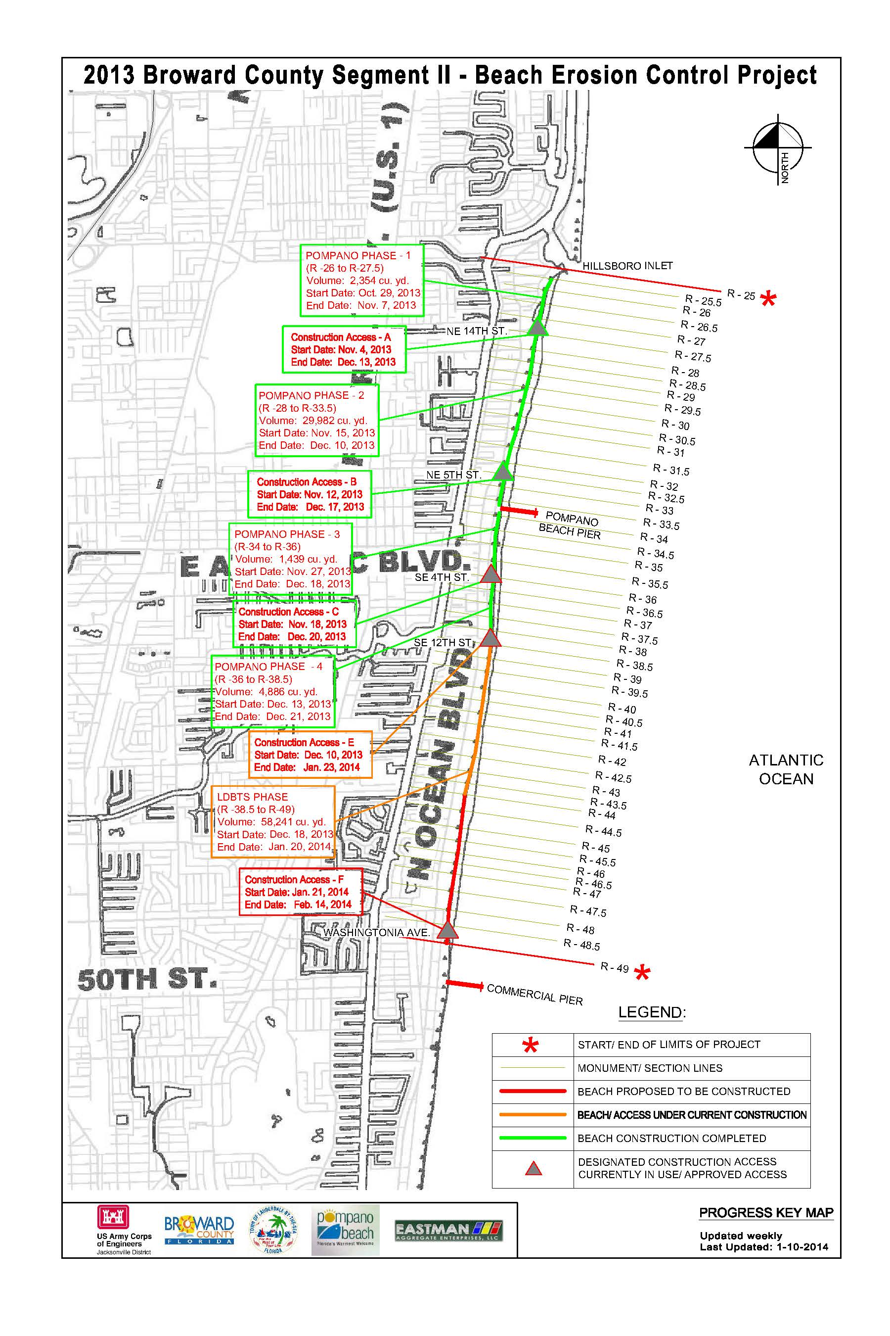 Jacksonville District  Missions  Civil Works  Shore Protection - Pompano beach map florida