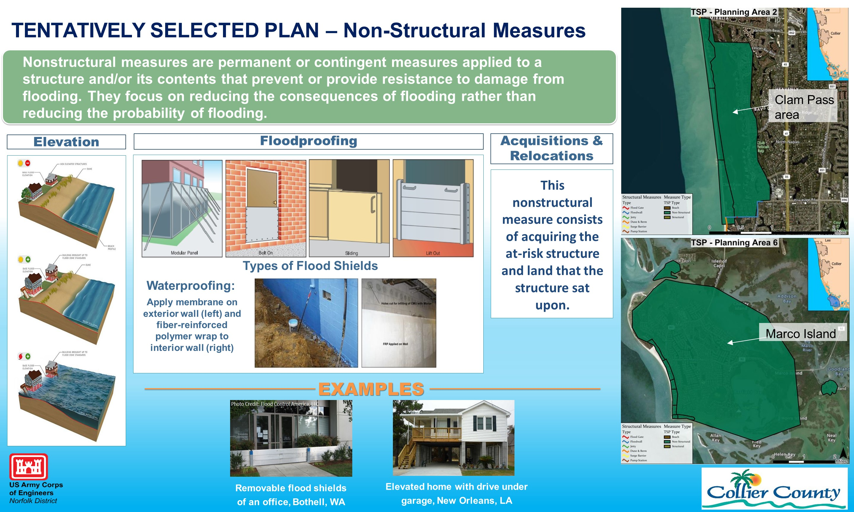 Collier County CSRM Tentatively Selected Plan Non-Structural Measures