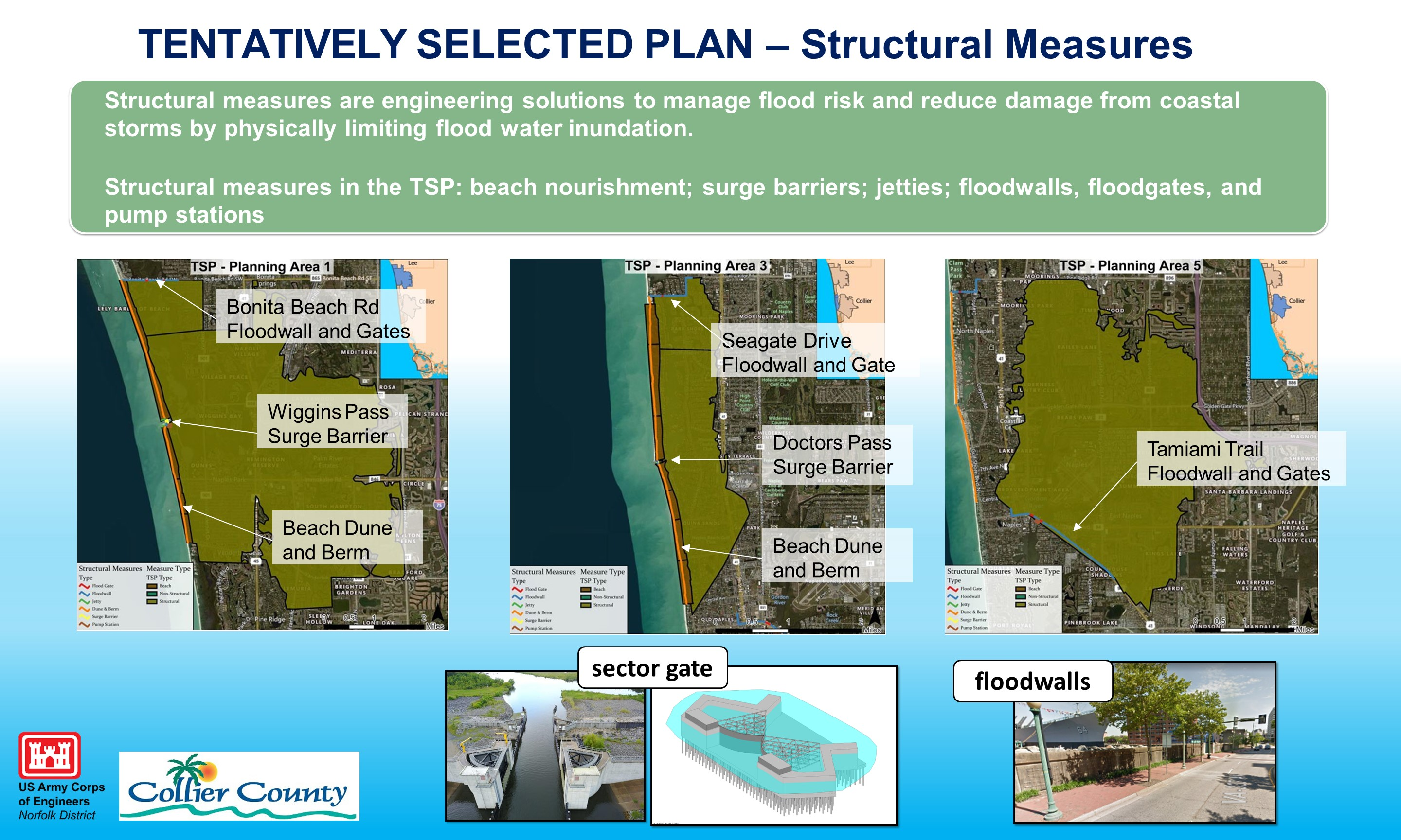 Collier County CSRM Tentatively Selected Plan Structural Measures