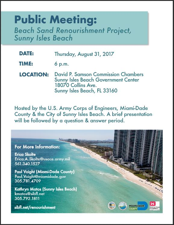 Sunny Isles Beach Public Meeting Aug 31 Flier