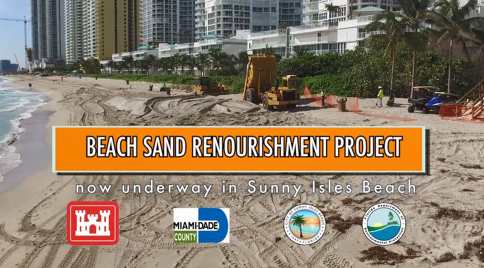 Beach Sand Renourishment Project now underway in Sunny Isles Beach